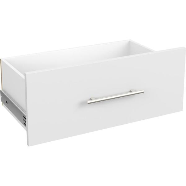 Style+ 10 in. x 25 in. White Modern Drawer Kit for 25 in. W Style+ Tower