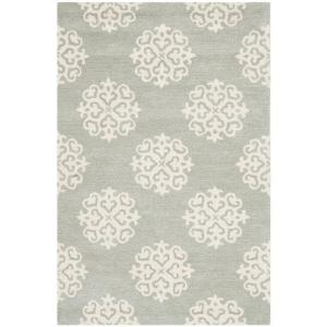 Safavieh Soho Grey Ivory 3 Ft 6 In X 5 Area Rug Soh724c 4 The Home Depot