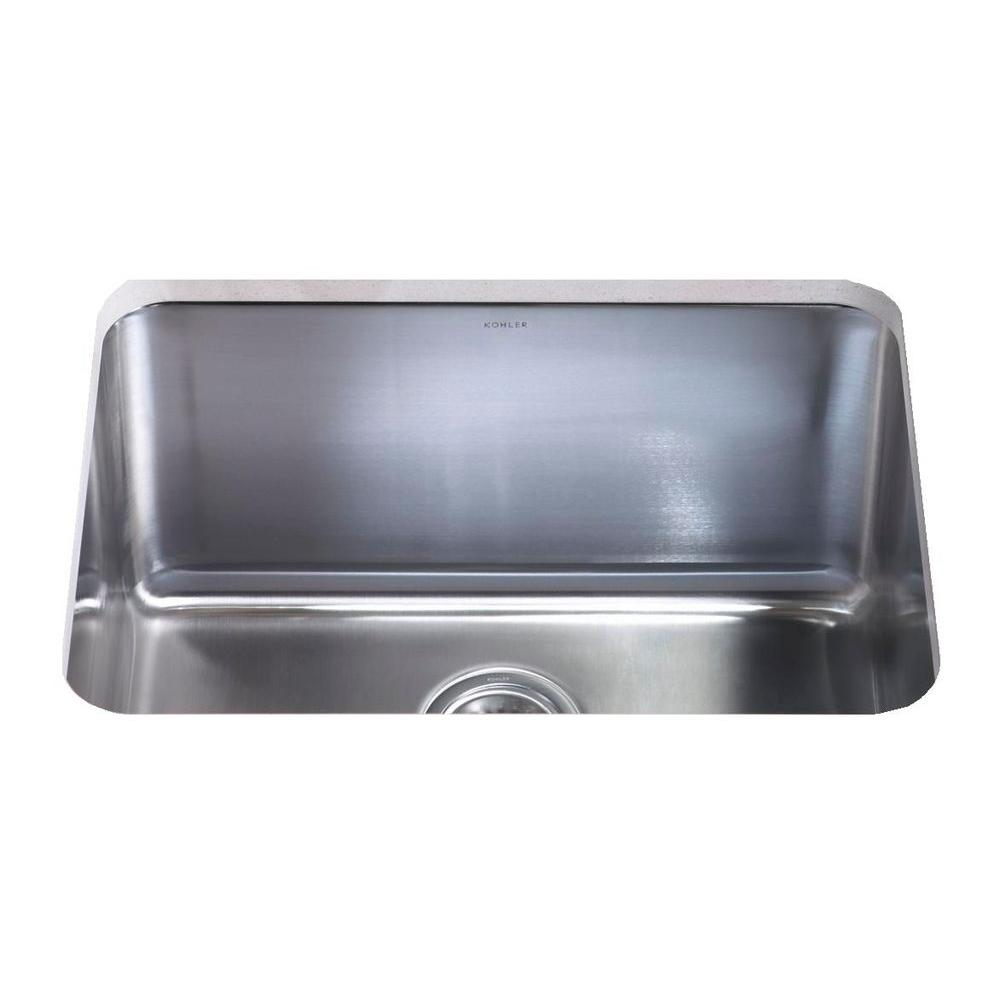 KOHLER Undertone 23 in. x 17.5 in. Stainless Steel Undercounter Utility Sink