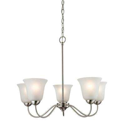 Conway 5-Light Brushed Nickel Ceiling Chandelier