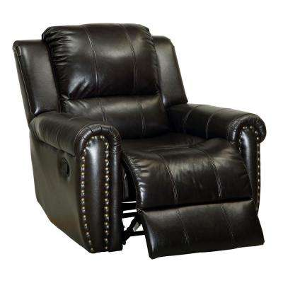 Mona Dark Brown Leatherette Recliner Chair