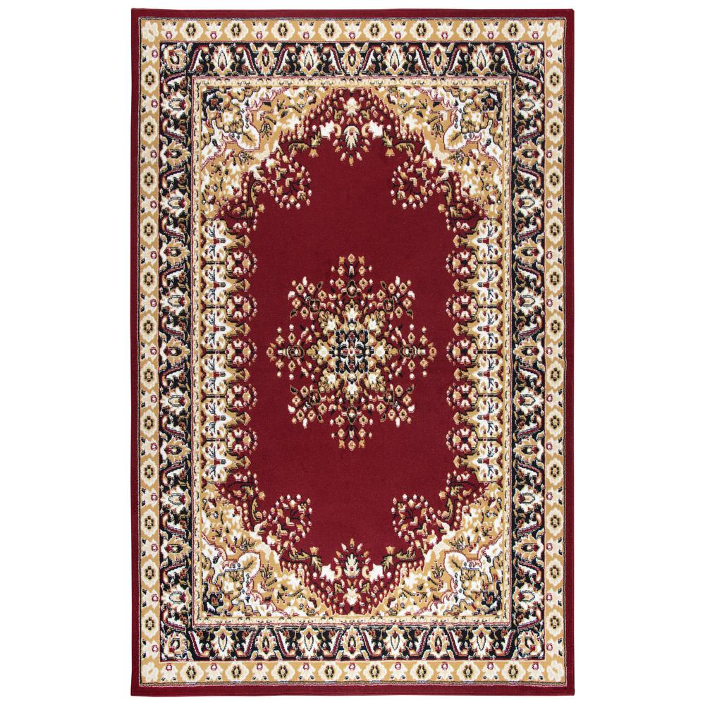 safavieh english manor red beige 8 ft x 10 ft area rug ems737a 8 the home depot. Black Bedroom Furniture Sets. Home Design Ideas