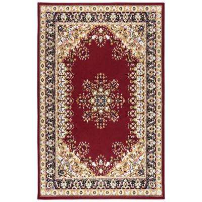 Xcite Red/Beige 8 ft. x 10 ft. Rectangle Area Rug