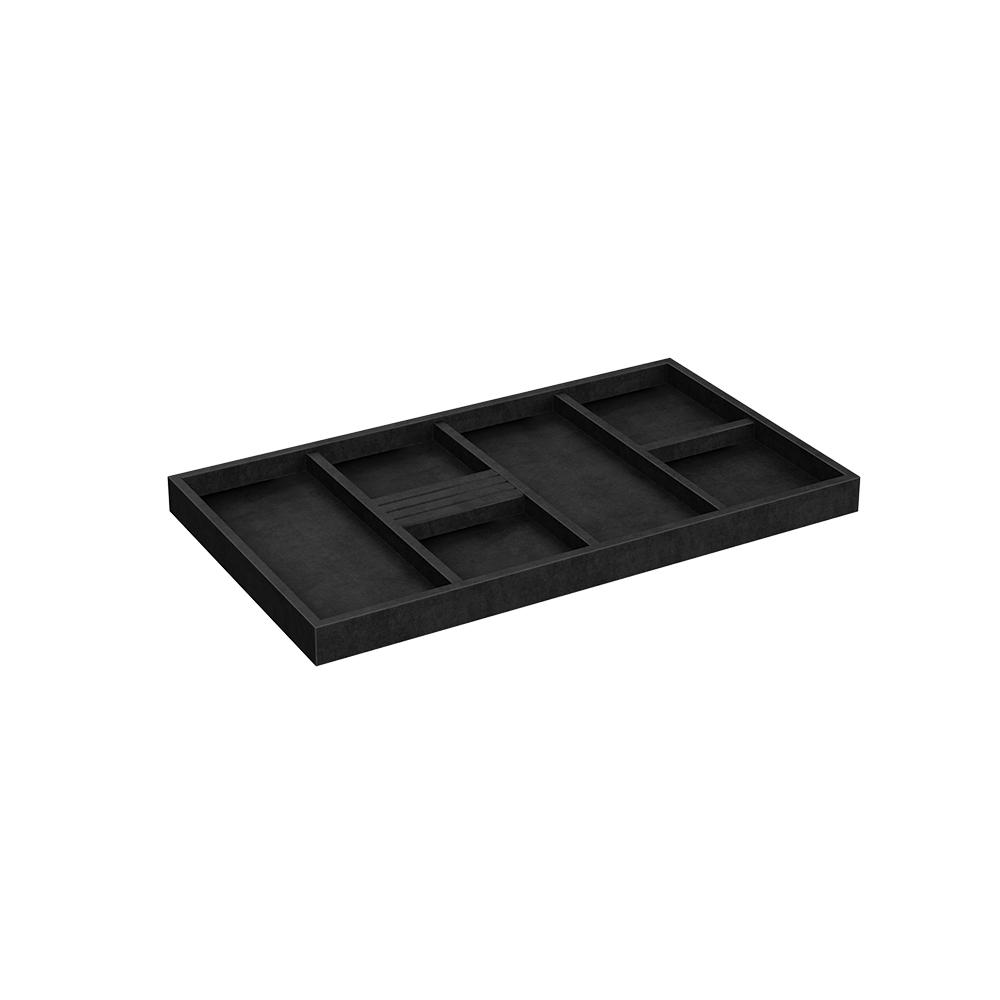 Closetmaid style 22 in w black velvet jewelry tray 2199 for Velvet jewelry organizer trays
