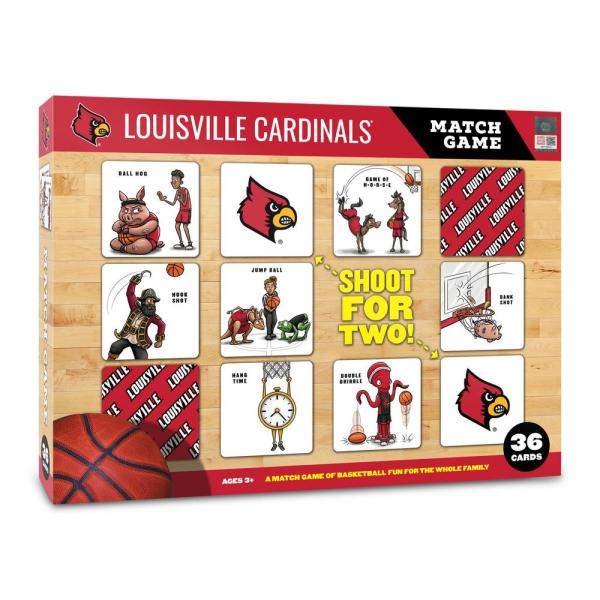 Youthefan Ncaa Louisville Cardinals Licensed Memory Match Game 2501123 The Home Depot