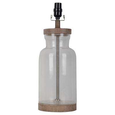 Mix and Match 18.50 in. H Light Natural Wood Fillable Glass Table Lamp Base