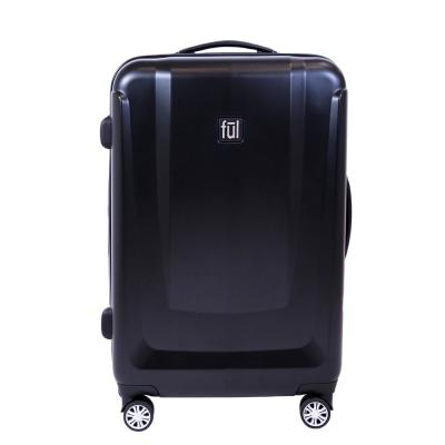 Load Rider 25in Hard side Spinner Rolling Luggage Suitcase, Black