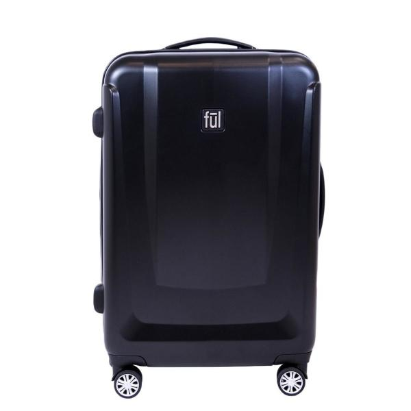 Ful Load Rider 25in Hard side Spinner Rolling Luggage Suitcase, Black