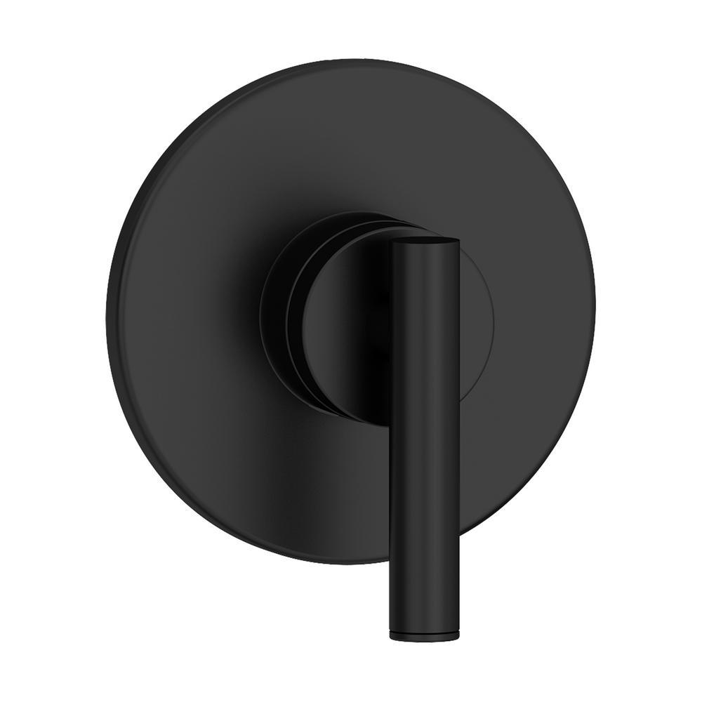Dia 1-Handle Wall-Mounted Diverter Valve Trim Kit in Matte Black (Valve Not Included)