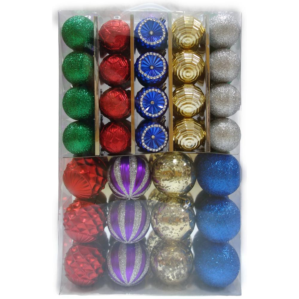 Home Accents Holiday Shatterproof Multicolor Christmas ...