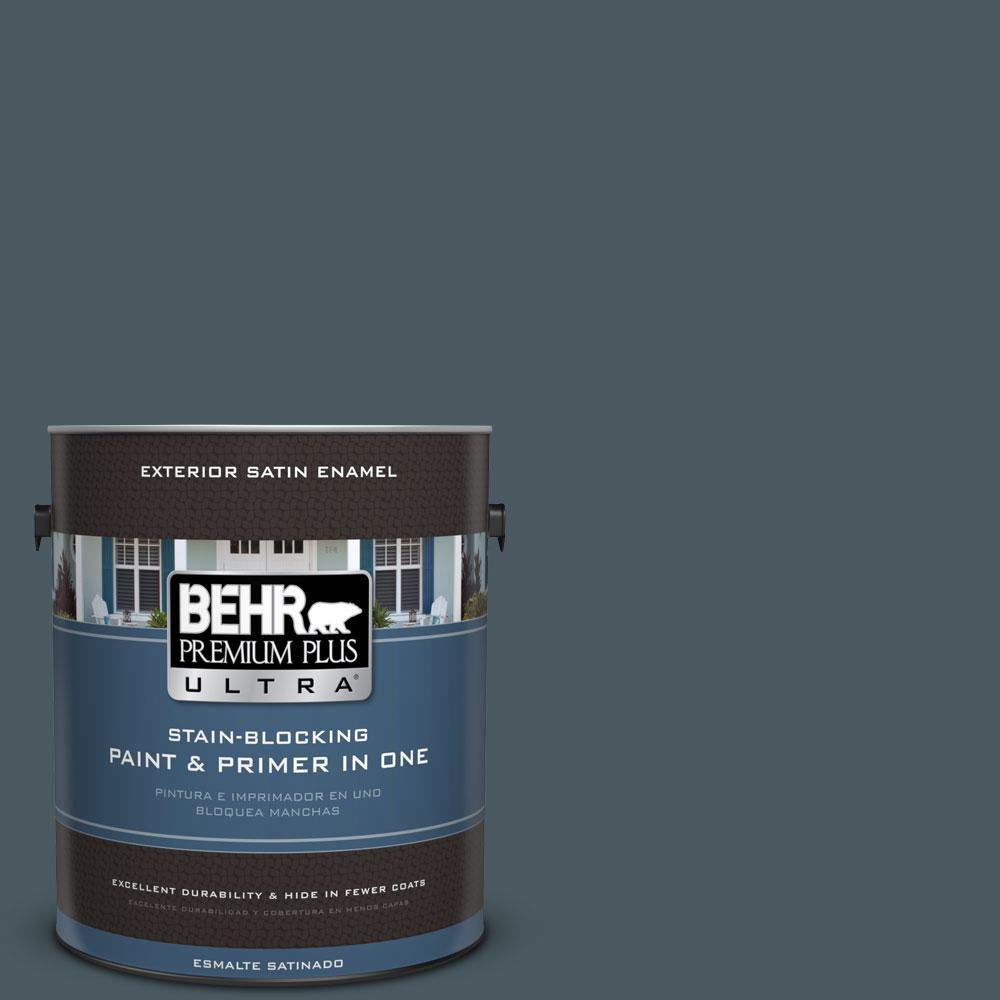 BEHR Premium Plus Ultra 1-gal. #S470-7 Undersea Satin Enamel Exterior Paint