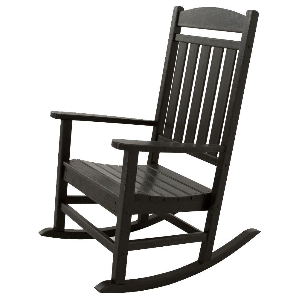 ivy terrace classics black patio rocker - Patio Rocking Chairs