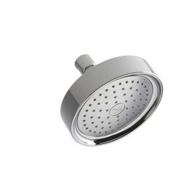 Purist Katalyst 1-spray Single Function 5 1/2 in. Fixed Shower Head in Polished Chrome