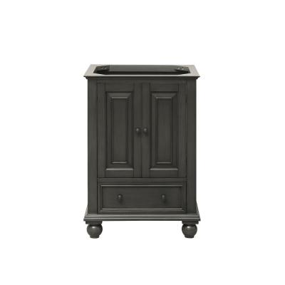 Thompson 24 in. W x 21 in. D x 34 in. H Vanity Cabinet in Charcoal Glaze