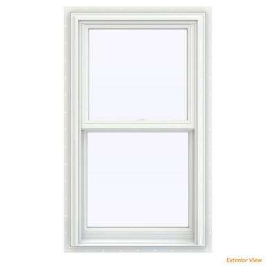 23.5 in. x 47.5 in. V-2500 Series White Vinyl Double Hung Window with BetterVue Mesh Screen