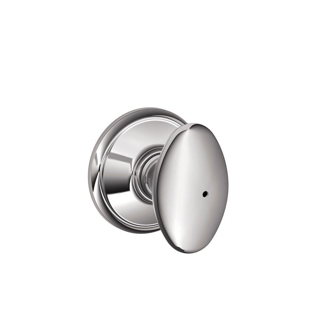 Schlage Siena Bright Chrome Privacy Door Knob