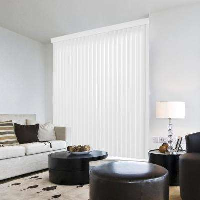 3.5 in. W x 102 in. L Crown White 3.5 in. Vertical Blind/Louver Set (9-pack)