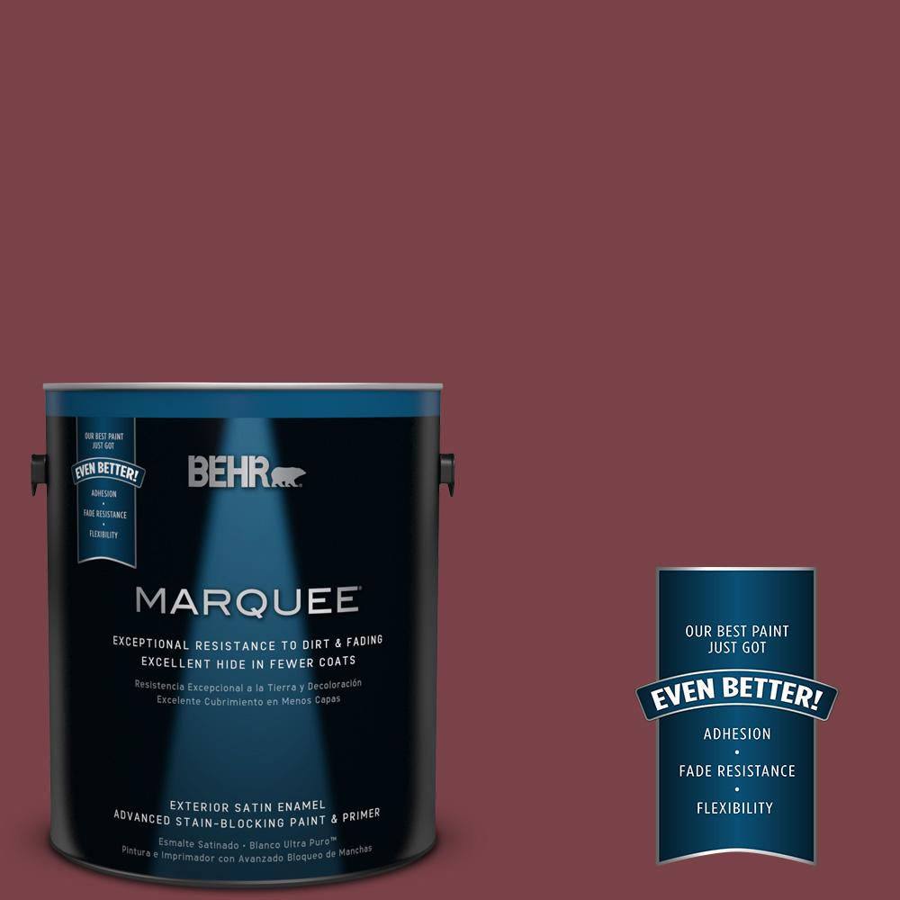 BEHR MARQUEE 1-gal. #PPU1-13 Spiced Wine Satin Enamel Exterior Paint