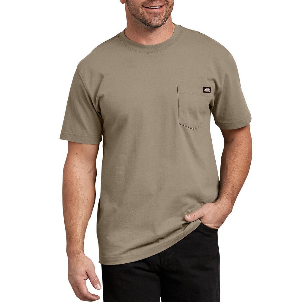 0cb0475723b8 Dickies Men's Desert Sand Short Sleeve Heavyweight T-Shirt-WS450DS ...