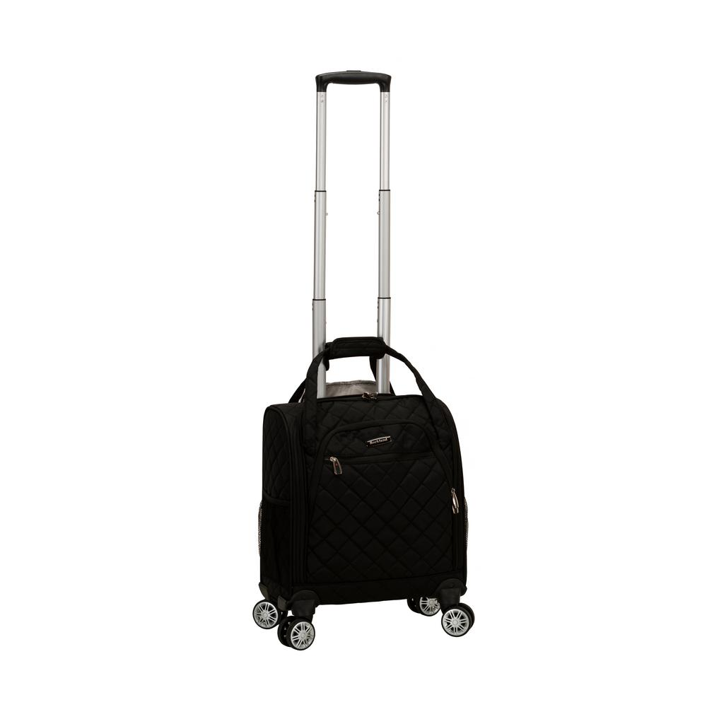 Black Melrose Wheeled Underseat Carry-On Bag