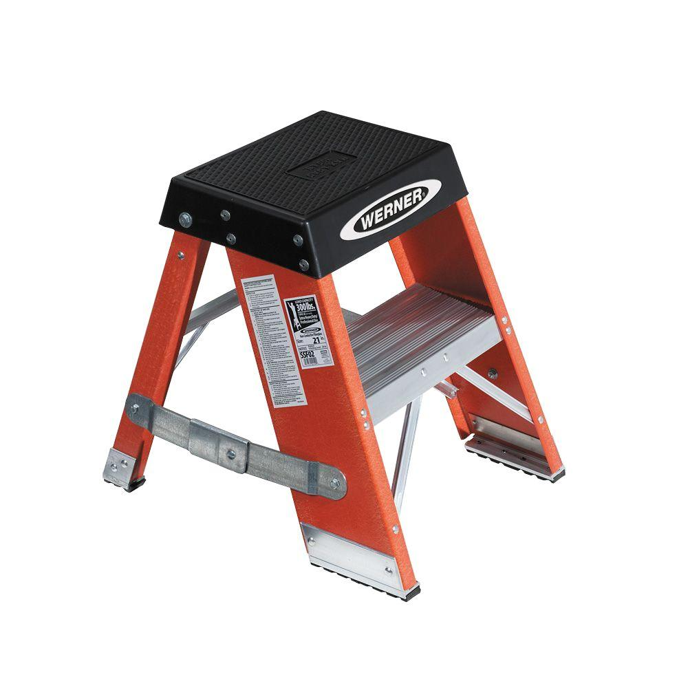 2 ft. Fiberglass Step Ladder with 375 lb. Load Capacity Type