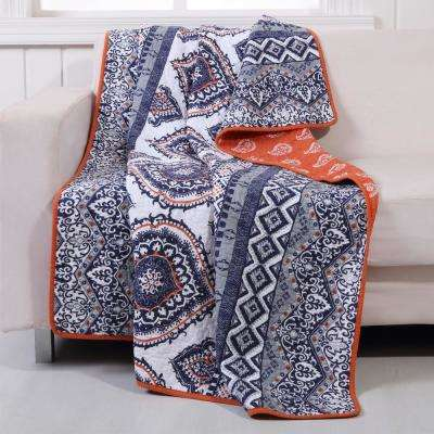 Medina Saffron Quilted Cotton Throw