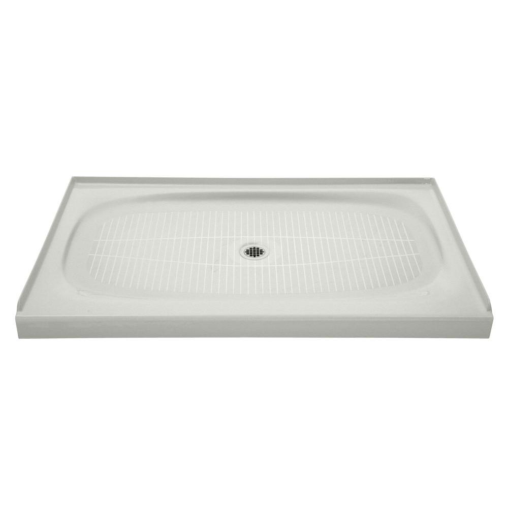 kohler cast iron shower base 60 x 36 KOHLER Salient 60 in. x 36 in. Cast Iron Single Threshold Shower  kohler cast iron shower base 60 x 36