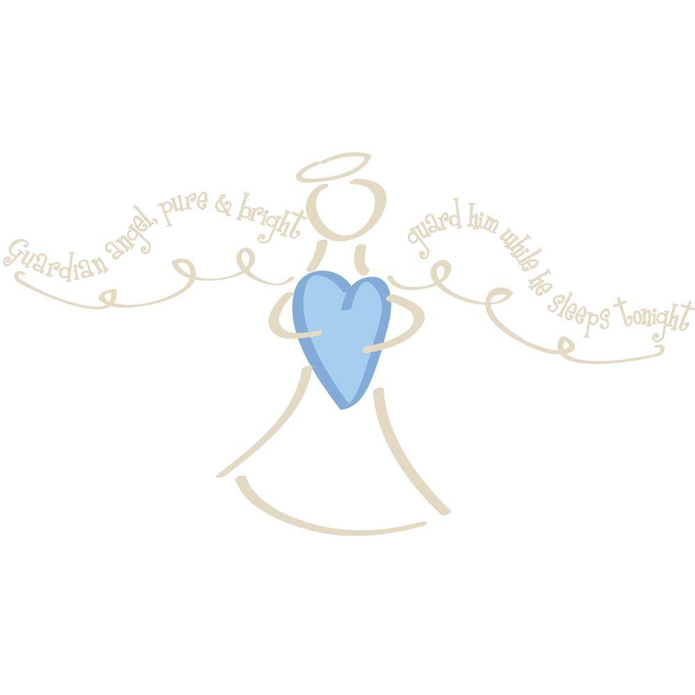 RoomMates 24 in. x 43 in. Guardian Angel-Boy Peel and Stick Giant Wall Decal-DISCONTINUED