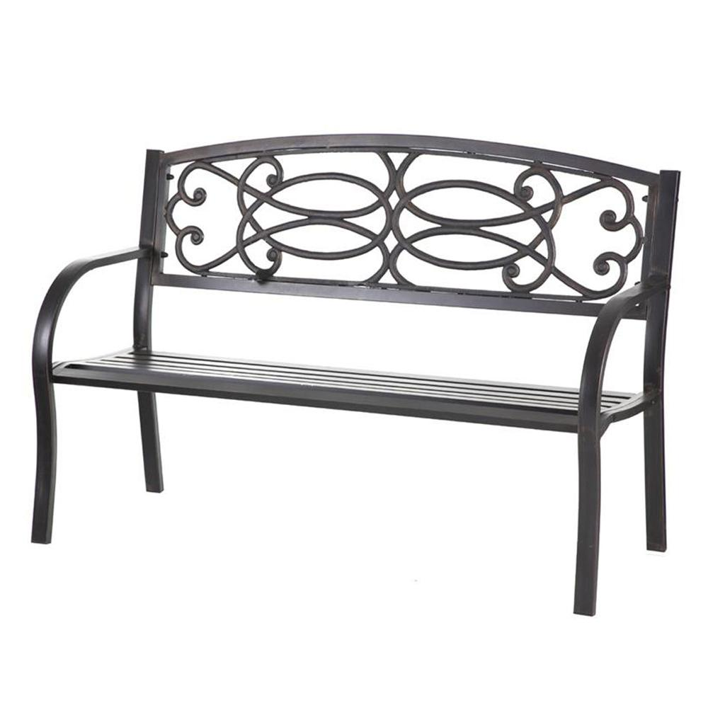 Excellent Cape Craftsman 50 5 In Metal Outdoor Garden Bench 2Gm331 Gmtry Best Dining Table And Chair Ideas Images Gmtryco