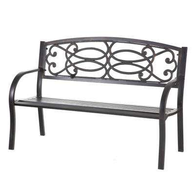 50.5 in. Metal Outdoor Garden Bench