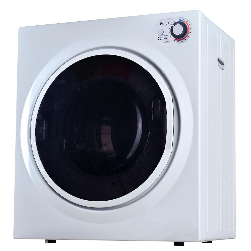 Panda 3.75 cu. ft. Compact Electric Laundry Dryer, White and Black, 120-Volt