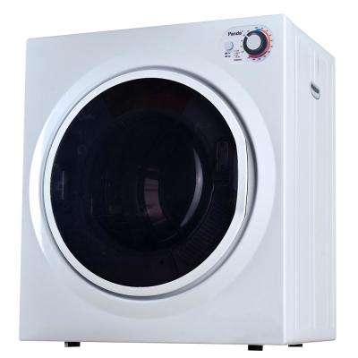3.75 cu. ft. Compact Electric Laundry Dryer, White and Black, 120-Volt