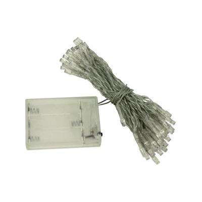50 LED Green Battery-Operated String Lights (Lot of 5)