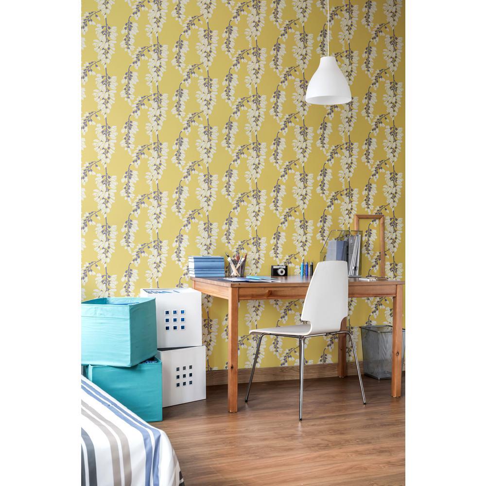 Nomad Collection Heart Breaker in Dusty Yellow Premium Matte Wallpaper