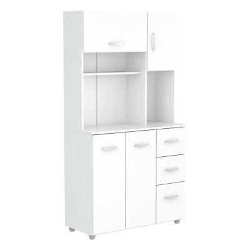 Laricina 35.04 in. x 15.35 in. x 66.14 in. Microwave Storage Utility Cabinet in White