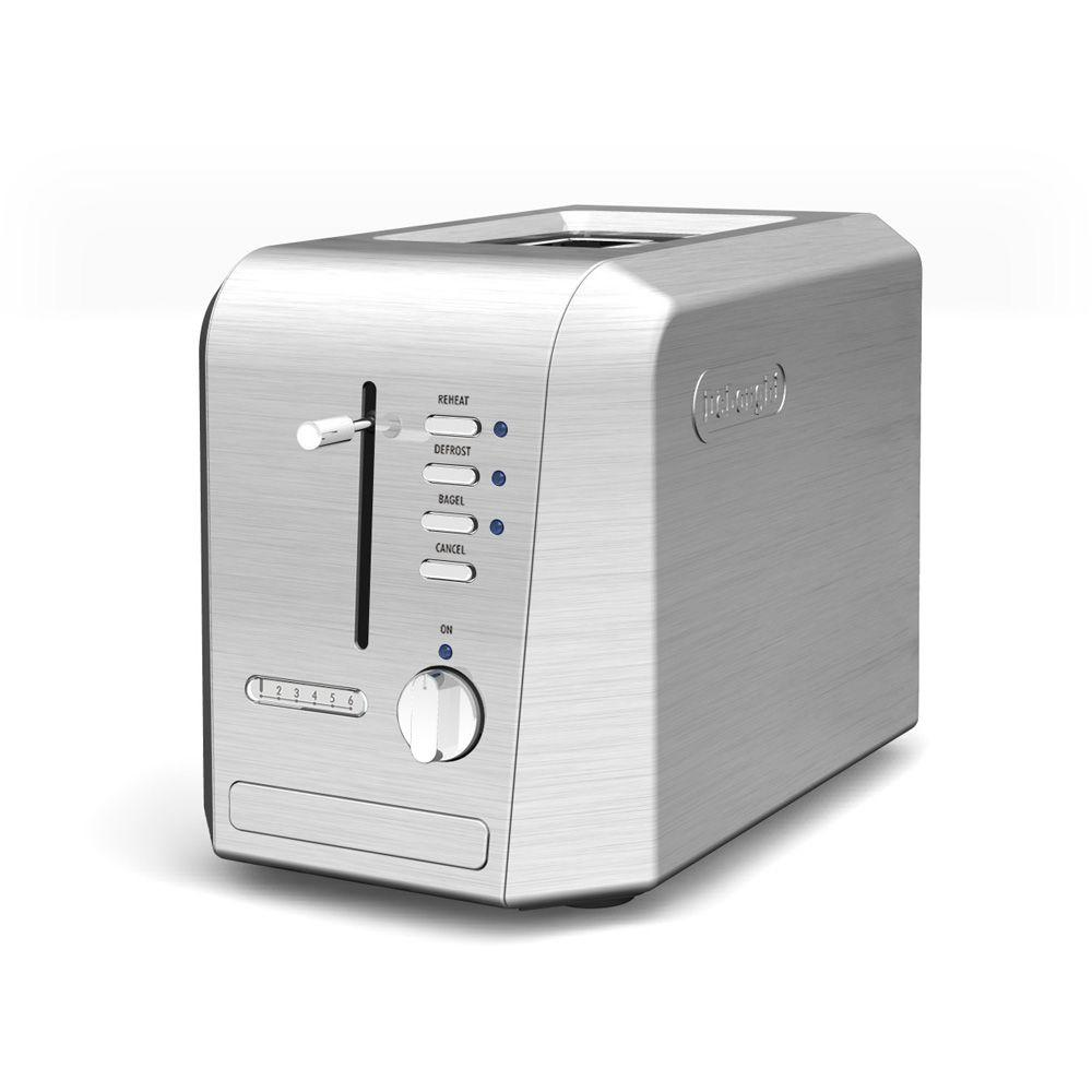 DeLonghi 2-Slice Toaster in Stainless Steel