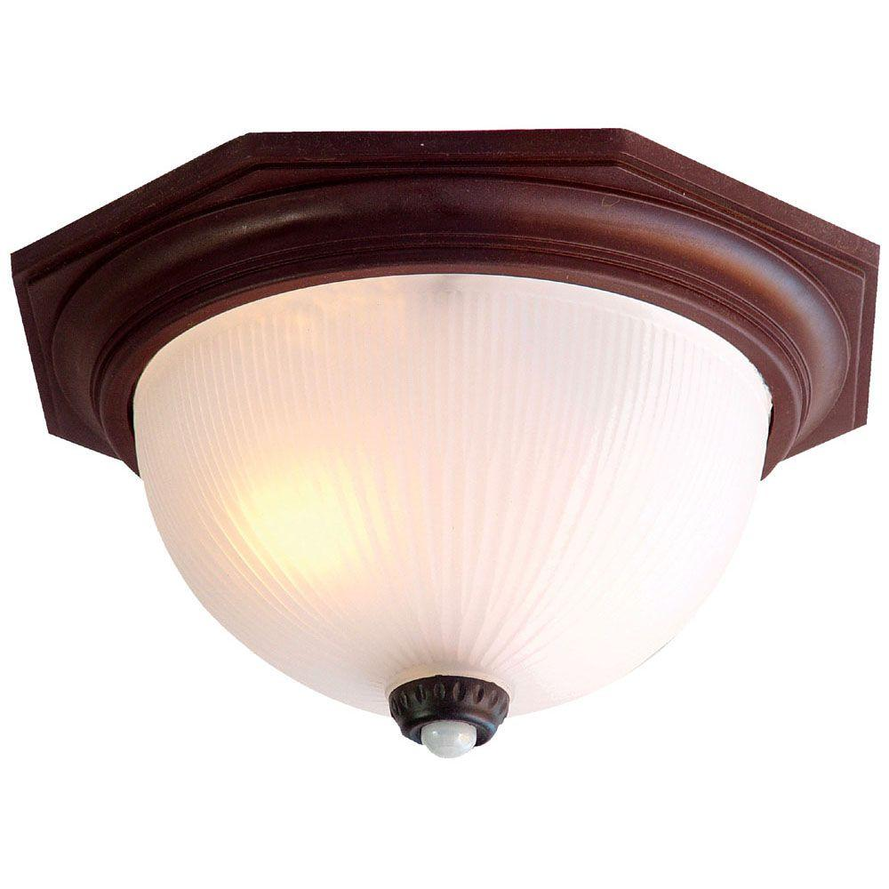 Acclaim Lighting Outer Banks Collection Ceiling-Mount 2-Light Outdoor Architectural Bronze Fixture