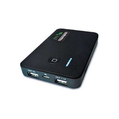 5,000 mAh Power Bank Portable Battery Charger with Dual USB Ports for Charging Smartphone, Tablet, and Portable Devices