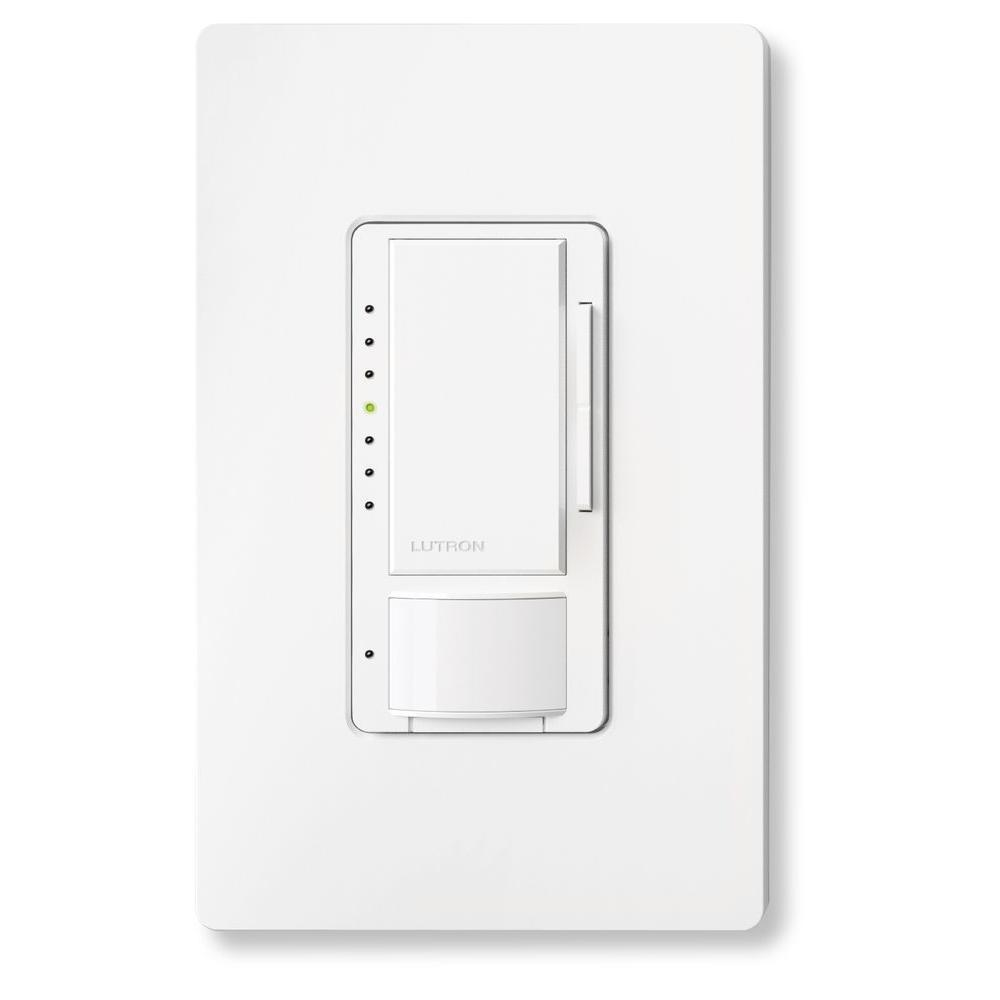 white lutron motion sensors mscl op153mhw wh 64_1000 lutron maestro c l dimmer and motion sensor with wallplate, single  at readyjetset.co