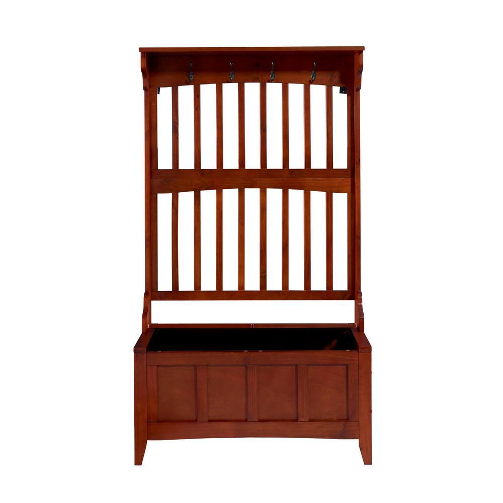 Linon Home Decor Walnut Storage Bench 84017WALC-01-KD-U