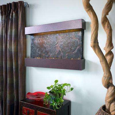 Medium Horizon Falls Lightweight Slate Wall Fountain in Copper-Vein Trim