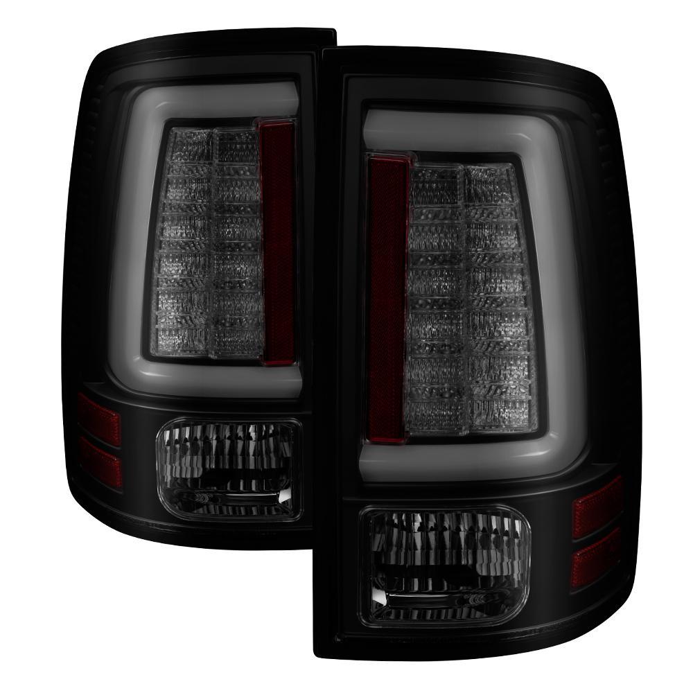 Dodge Ram 1500 09 18 2500 3500 10 Light Bar Led Tail Lights Not Compatible With Model Black Smoke