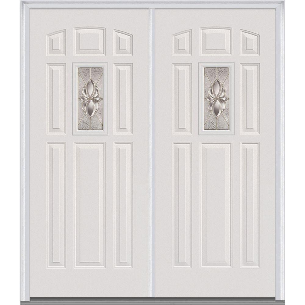 Mmi door 72 in x 80 in heirloom master right hand 1 lite for 72 x 80 exterior door