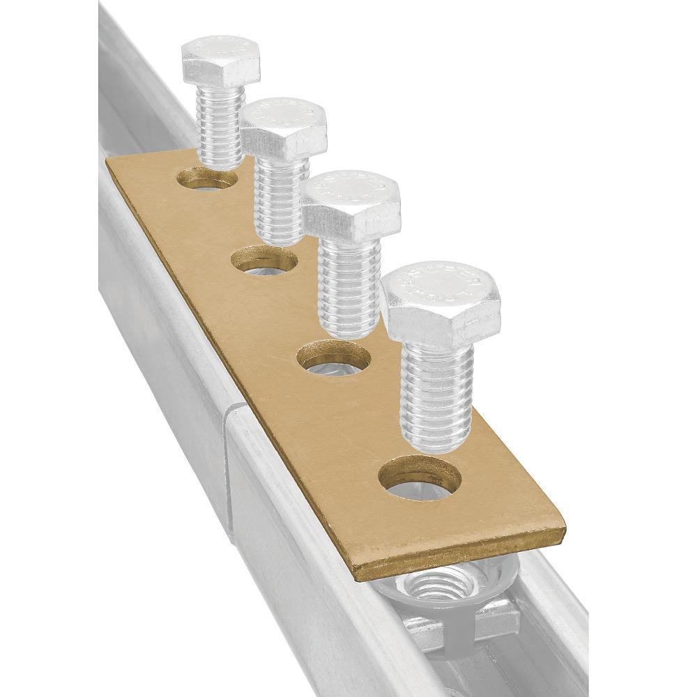 4 Superstrut//Unistrut 4-Hole Galvanized Flat Straight Bracket Strap Solar Rack