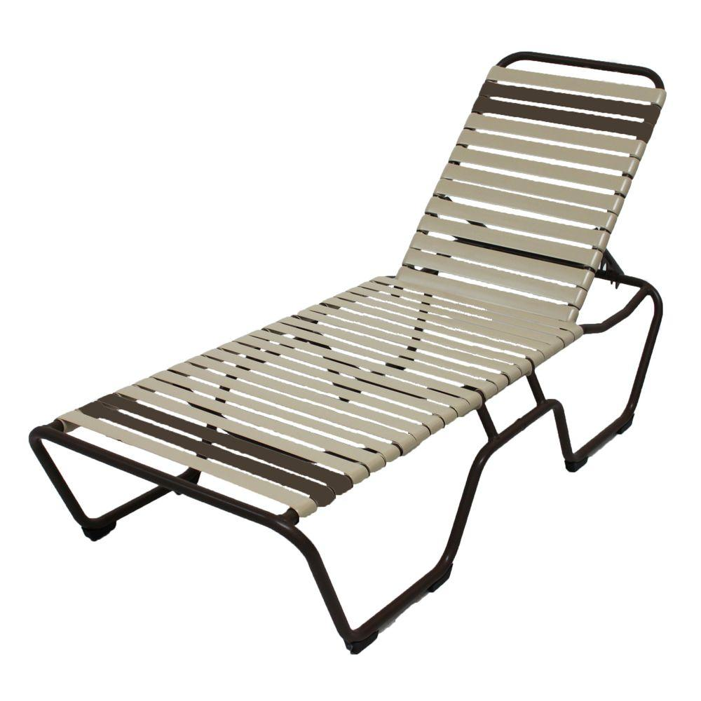 Marco Island Cafe Brown Commercial Grade Aluminum Patio Chaise Lounge with
