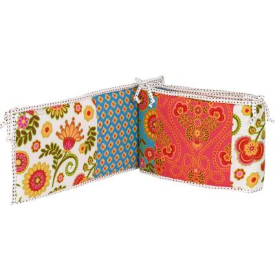 Gypsy Floral Cotton 4 Sectional Crib Bumper Pads
