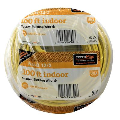 100 ft. 12-2 Yellow NM W/G Cable