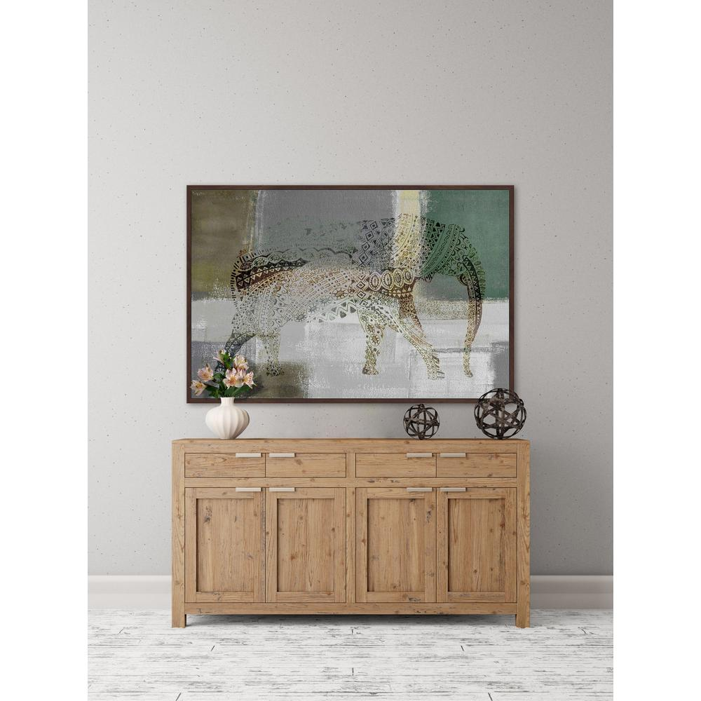 "12 in. H x 18 in. W ""Decorative Elephant"" by Parvez"
