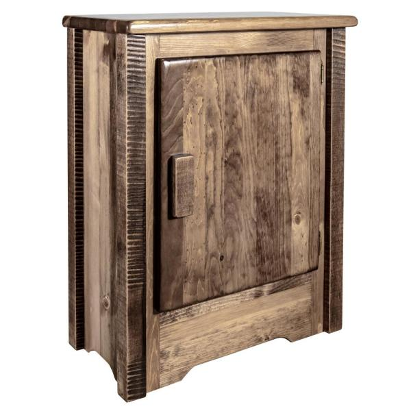 Homestead Collection Right Hinged Brown Accent Cabinet