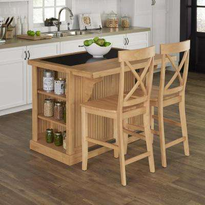 Nantucket Maple Kitchen Island With Seating